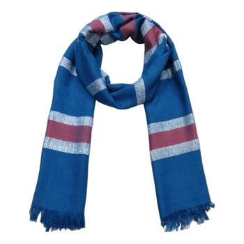blue woven Viscose scarf