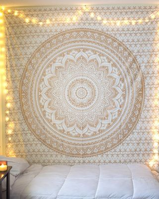 Indan 100% Cotton Queen Size Golden Ombre Tapestry