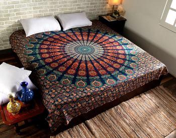 Indan 100% Cotton Queen Size Orange COR Tapestry