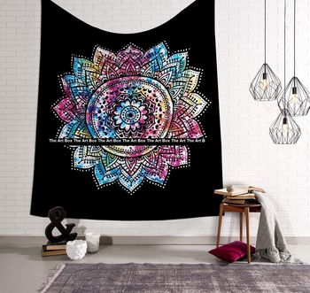 Indan 100% Cotton Queen Size Multi Ombre Tapestry