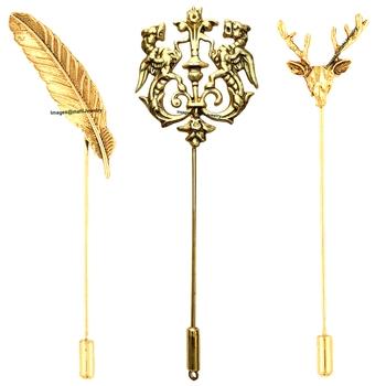 Gold crystal brooch