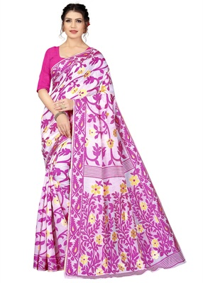 WOMEN'S DESIGNER  BANARASI KANJIVARAM SAREE WITH DESIGNER BLOUSE