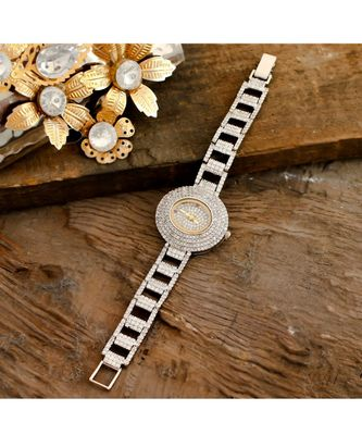 Silver Diamond Designer Party Watch
