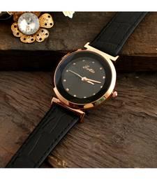 Black Stylish Diamond Shape Glass Design Watch