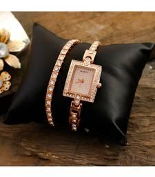 Rose Gold Large Belt Braclet Look Designer Watch
