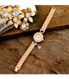 Rose Gold Beautiful Sweet N Simple Stylish Watch