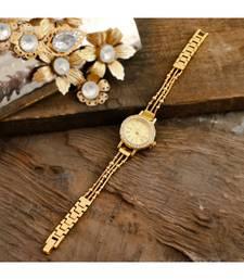 Golden Smart Look Sweet N Simple Cute Elegant Watch
