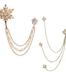 White crystal brooch
