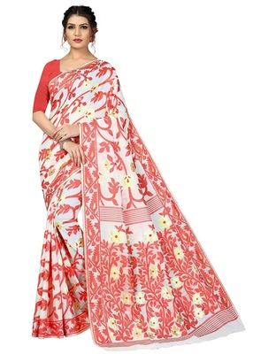 WOMEN'S DESIGNER  BANARASI COTTON SAREE WITH DESIGNER BLOUSE