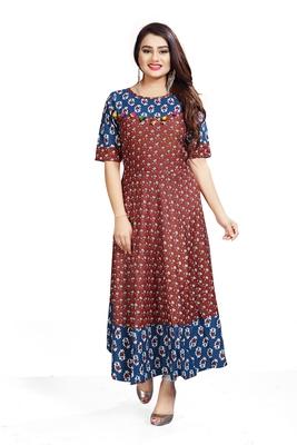 Designer Long Printed Ready To Wear Ethnic Bollywood Style Kurti