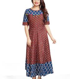 Designer Long Printed Ready To Wear Ethnic Bollywood Style Kurti