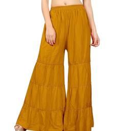 Yellow plain rayon regular_fit sharara