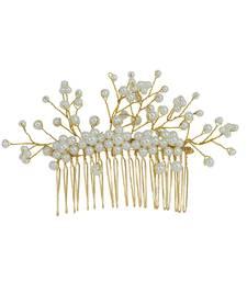 White pearl hair-accessories
