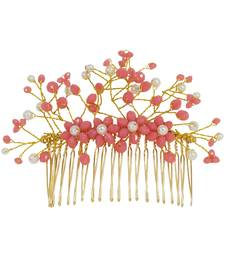 Red pearl hair-accessories