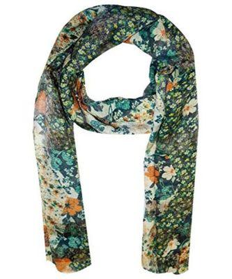 green floral print Polyester scraf