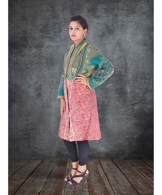 multicolor cotton handmade desinger ladies women western kanth jacket