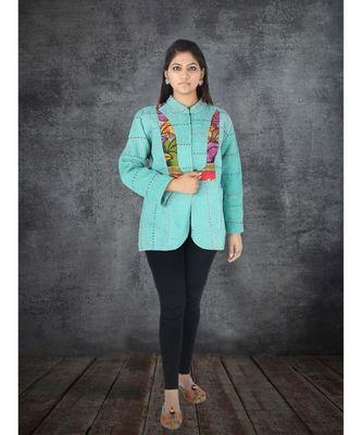 multicolor cotton handmade desinger ladies women western kanth jacket