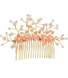 Orange pearl hair-accessories