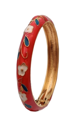 Red cubic zirconia bangles-and-bracelets