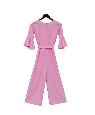 Pink Georgette Jumpsuit