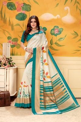 Chiku woven khadi saree with blouse