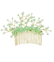 Green pearl hair-accessories