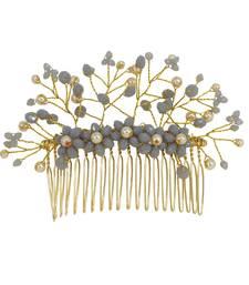 Grey pearl hair-accessories