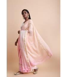 Pink Ombre Saree