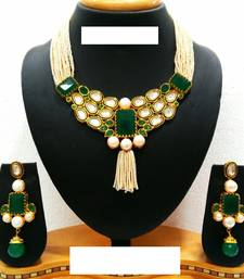 Buy stones necklace set bridal-set online