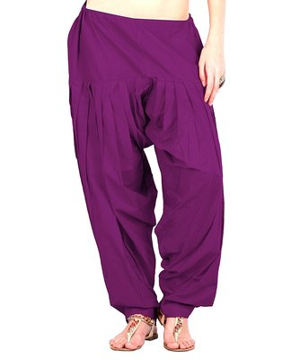 Purple cotton Patiala with cotton Dupatta