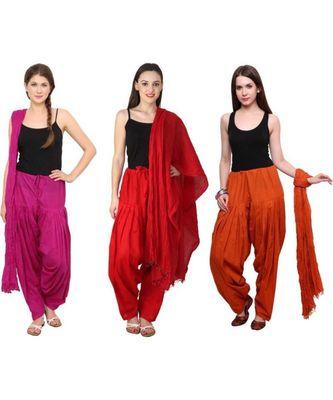 multicolor cotton Patiala with cotton Dupatta