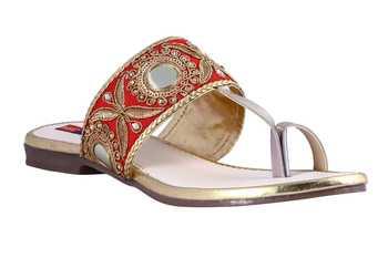 stylish fancy Red Flat Sandals For women