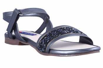 stylish fancy grey   Flat Sandals For women