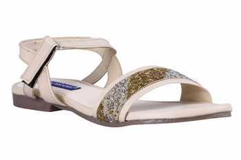 stylish fancy beige  Flat Sandals For women