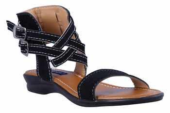 stylish fancy Black Flat Sandals For women