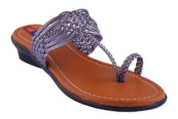 Women one toe  Grey Flats