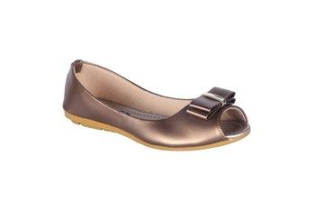 Women   Copper  slip on flat sandals