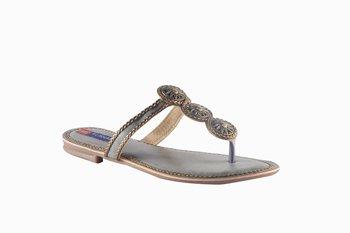 Women Synthetic grey toe separator Sandals