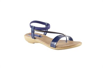 Women Synthetic Blue back strap Sandals