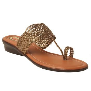 Women Synthetic Copper sandal