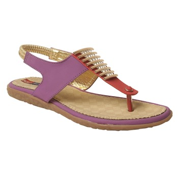 Women Synthetic Purple sandal
