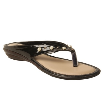 Women Synthetic Black sandal