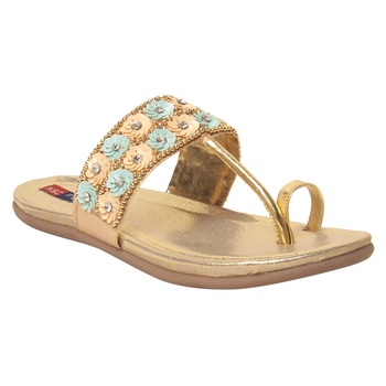 Women Blue Synthetic Sandal