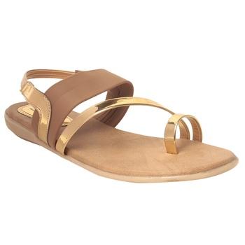 Women Beige Synthetic Sandal