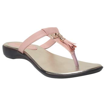 Women Pink Synthetic Flats