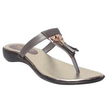Women Grey Synthetic Flats