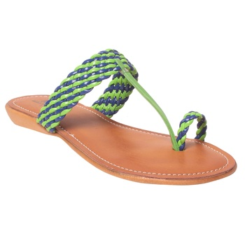Women Synthetic Green Sandal