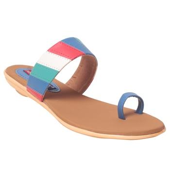 Women Synthetic Blue Sandal