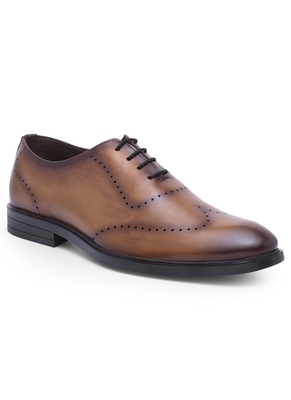 Brown Leather Brogues For Men