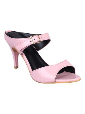patent leather Stylish pink Stilettos Heels For Women